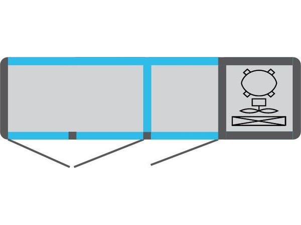 Tekna Line Barcounter | Voor en Achterzijde glas | RVS | 3 Glazen Deuren | +10°/-5°;+5°/-25°C  | 178x55x(H)88,5cm