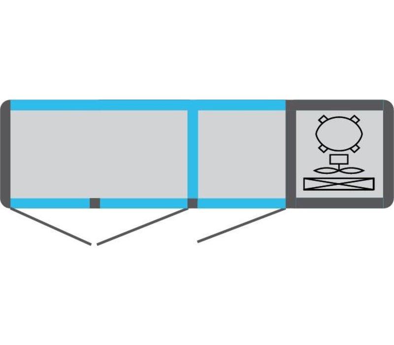 Tekna Line Barcounter | Voor en Achterzijde glas | Wit | 3 Glazen Deuren | +10°/-5°;+5°/-25°C  | 178x55x(H)88,5cm
