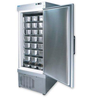 Tekna Schepijsbewaarkast RVS | 5010 NFN/s | +5°/-35°C | Geschikt voor 48x 5 Liter Bakken | 67x89x(H)193cm