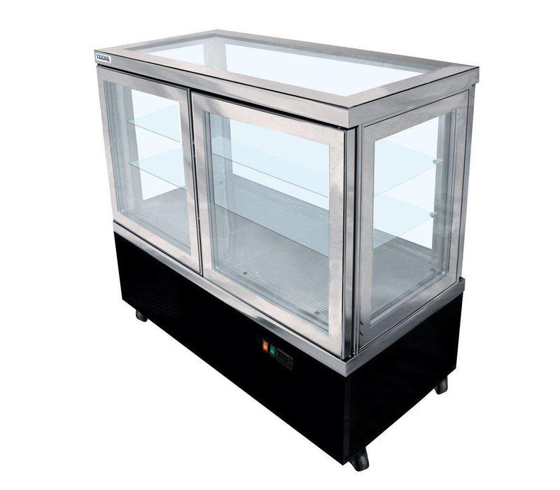 Tekna Line Gebaksvitrine   CIELO 132   +10°/-5°C   3 zijden glas   132x64x(H)123cm