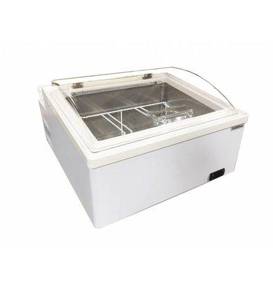 ColdFlow Schepijsvitrine Tafelmodel | ICE 3 V LED | Geschikt voor 3x 5 Liter | 64,7x71,7x(H)40,2cm