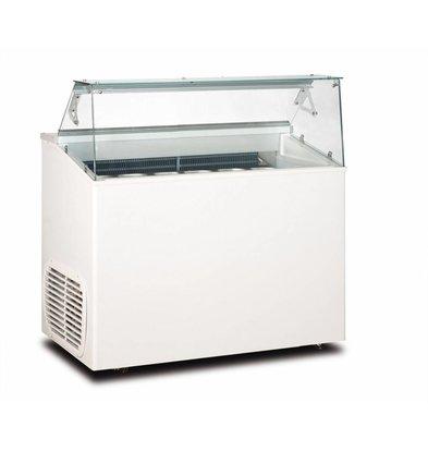 Framec Schepijsvitrine Met Glasopbouw | Geschikt voor 6x5 Liter | 120x67,5x(H)117,5cm