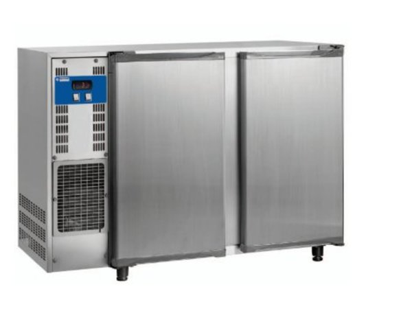 Diamond Bar Kühlschrank 2 Türen | Edelstahl | 375 Liter 145,5x56,5x (H) 89 / 90,5 cm