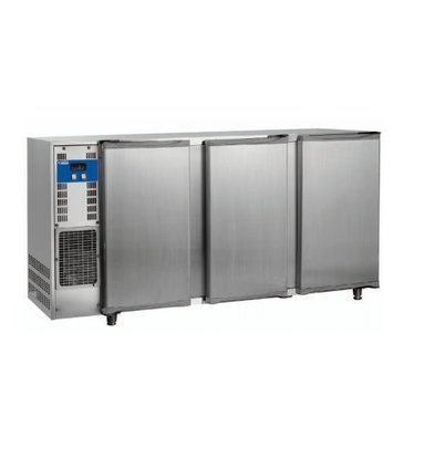 Diamond Bar fridge 3 Glass Doors | Stainless steel | 579Liter | 206.5x56.5x (H) 89 / 90.5cm