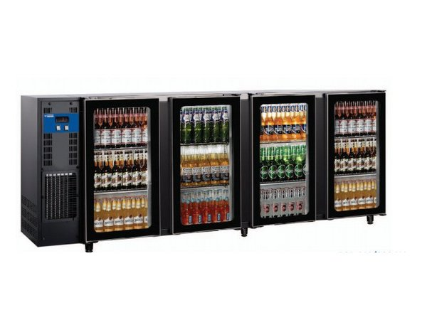 Diamond Bar Kühlschrank 4 Glastüren 783Liter   267,5x56,5x (H) 89 / 90,5 cm