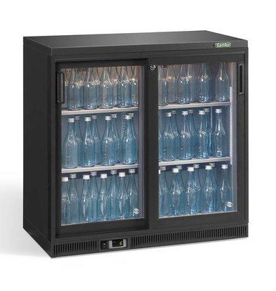 Gamko Flessenkoeling 2-Deurs | Antraciet | Gamko LG2/250G84 Maxiglass | 250L | Schuifdeuren | 900x536x850mm