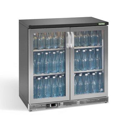 Gamko Flasche Chill-2-Tür   Chrom   Gamko LG2 / 250GCS84 Maxi Glas   250L   Pendeltüren   900x536x850mm
