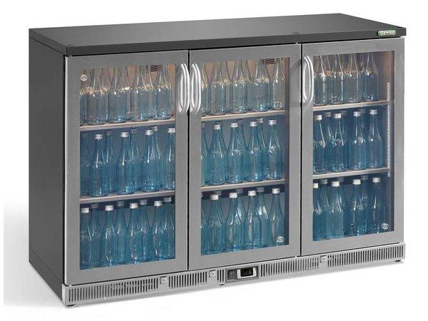 Gamko Flasche Chill-3-Türer | Chrom | Gamko LG2 / 315GCS84 Maxi Glas | 315L | Pendeltüren | 1350x536x850mm
