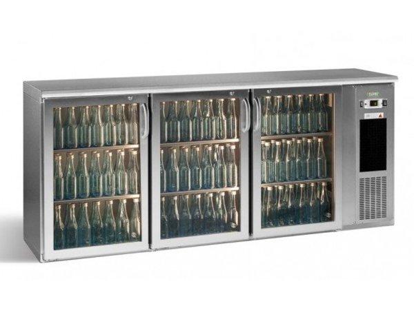 Gamko Flasche Chill-3-Türer   Chrom   Gamko E3 / 222GMUCS   531 33 cl Flaschen.   537L   ECO-Line   1988x492x840 / 860-880mm