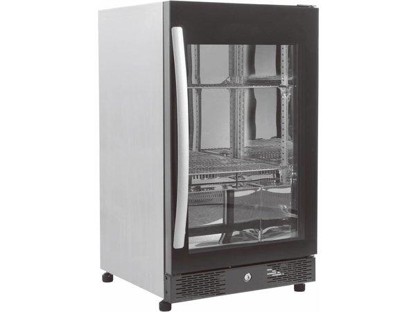 Combisteel Barkoelkast met Glazen Deur | Robuuste Handgreep | LED | Geforceerd | Koelmiddel R600A | 180 watt | 500x500x(H)840mm