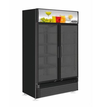 Combisteel Refrigerator 2 glass doors BEZ-780 GD black