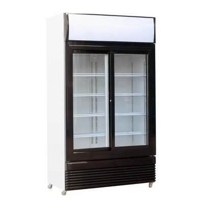 Combisteel Fridge White Glass Sliding Doors | BEZ-780SL | 1120x595x (H) 2100mm