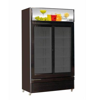 Combisteel Fridge slide glass doors BEZ-780 SL black