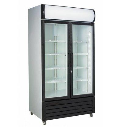 Combisteel Fridge White 2 Glass Doors   FCU-750   1120x610x (H) 1973cm