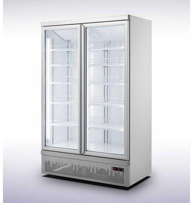 Combisteel Horeca Fridge   2 Glass Doors   JDE-1000R   1253x710x (H) 1997cm