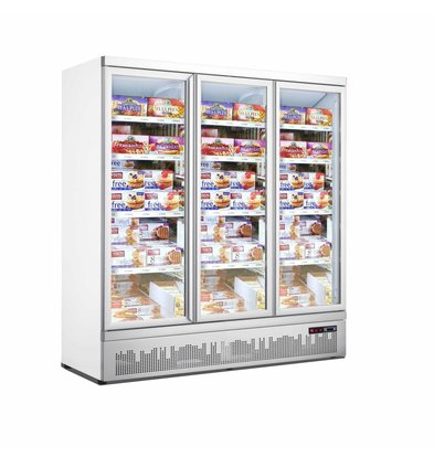 Combisteel Horeca Freezer cabinet 3 Glass Doors JDE-1530F | 1880x710x (H) 1997mm