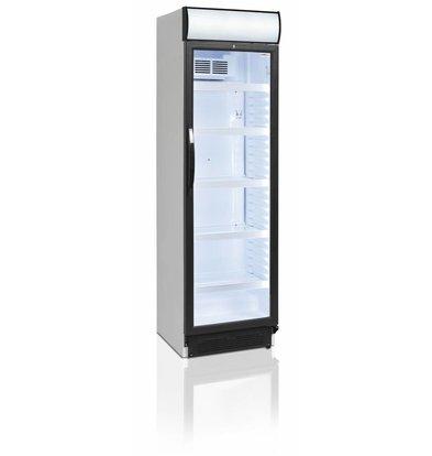 Display Koelkast Wit | 347 Liter |  LED Verlichting | Met Lichtbak |  595x640x(H)1980mm