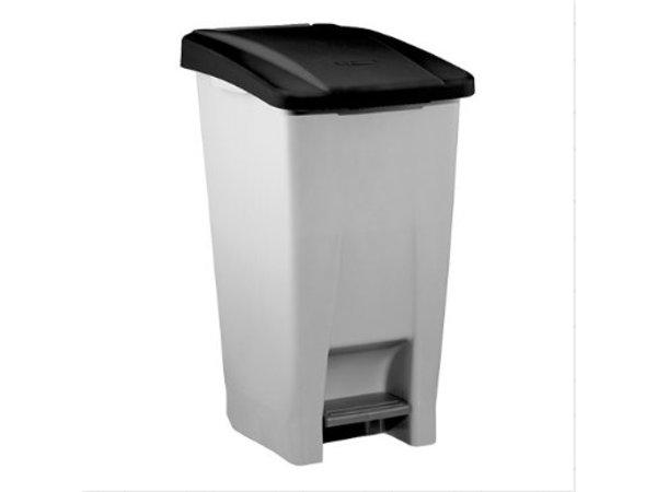 XXLselect Pedaalafvalbak Grijs | 60 Liter