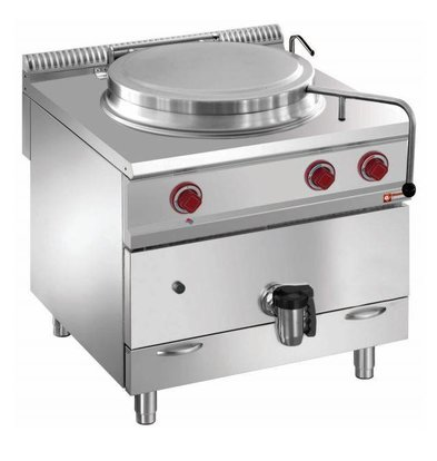 Diamond Boiling Pan Gas SS | 100 Liter | Indirect Heating | 800x900x850 / 920 (h) mm