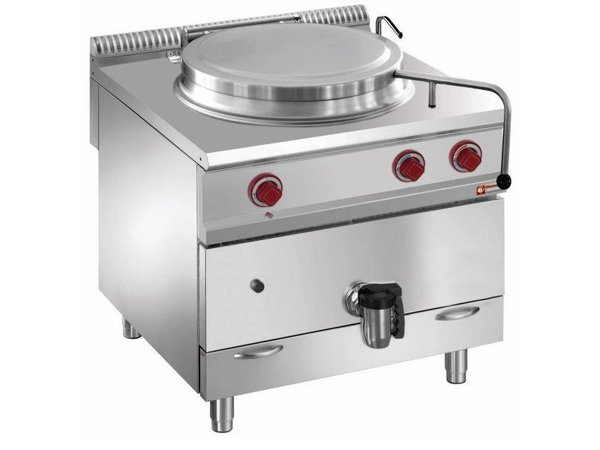 Diamond Kochkessel Gas SS | 100 Liter | Indirekte Heizung | 800x900x850 / 920 (h) mm