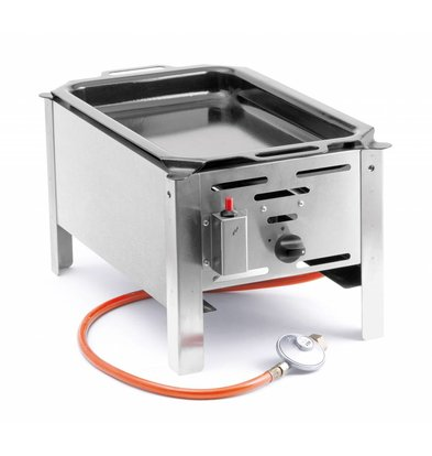 Hendi Hendi 154601 Barbecue Bake Master Mini | BBQ | Tabletop griddle on Gas | Complete with accessories