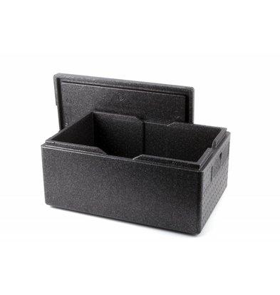 Hendi Thermobox Black | Grau-Abdeckung | 1 / 1GN | 600x400x (H) 275mm