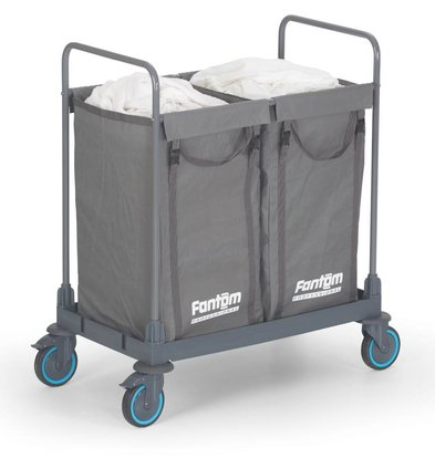 Combisteel Linen trolley with 2 separate compartments 910x530x (H) 1120mm
