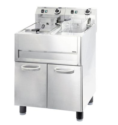 Casselin Fryer | Electric 2x 13 Liter 400 volts 2x 9.9 kW | 640x600x (H) 860-920mm