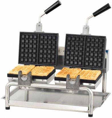 Casselin Double Swivel Brussels Waffle Iron | 3600W | 585x580x (H) 305mm