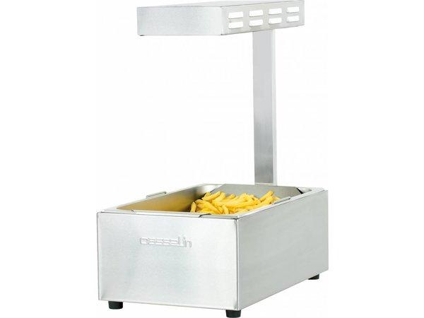Casselin Frites Wärmegerät 1/1 GN | Infrarotlampe | 335x563x (H) 660 mm