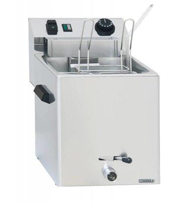 Casselin Pastakoker Elektrisch | Tafelmodel | met Aftapkraan | 3400W | 270x420x(H)300mm | Beschikbaar in 1 of 3 Mandjes
