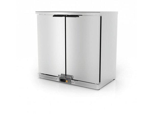 Coreco Barkoelkast 2 Deurs RVS | 2 Verstelbare Etages | 200 Liter | 92,5x52x(H)90cm