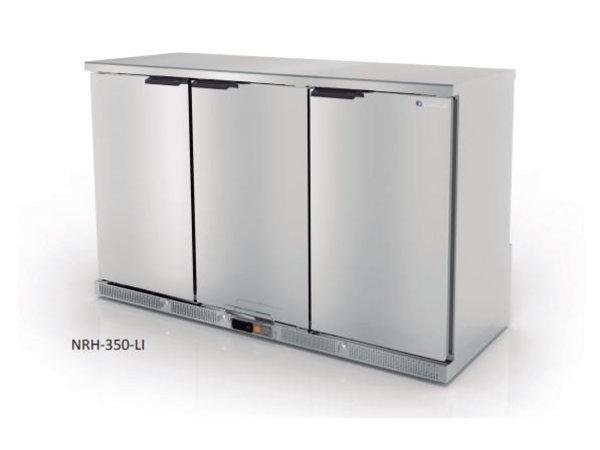Coreco Barkoelkast 3 Deurs Zwart | 2 Verstelbare Etages | 305 Liter | 137,5x52x(H)90cm