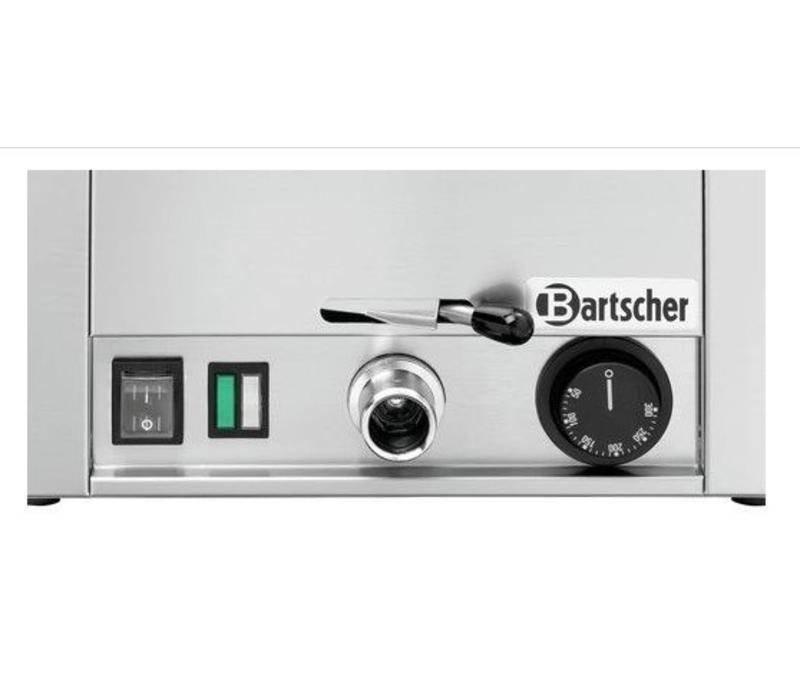 Bartscher Mehr Bratwanne 300 | Edelstahl | Ablassventil mit Bajonett | Inkl. Verschlussstopfen | 330x580x (H) 330mm