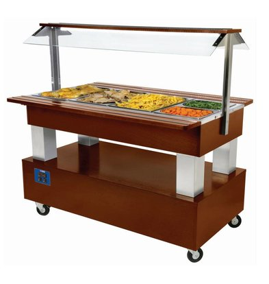 Diamond Bain Marie Buffet 4 x 1/1 GN Dark Brown
