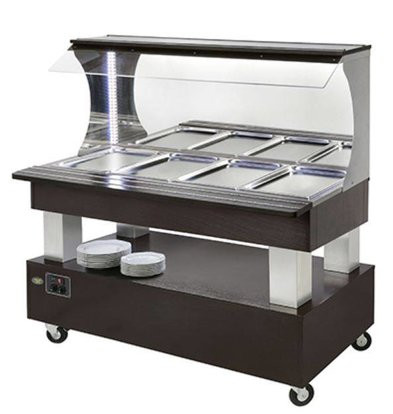 Diamond Bain Marie Wall Buffet 4 x 1/1 GN Wenge