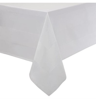 Mitre Essentials Tablecloth Satin Band | White 100% cotton Available in 10 sizes