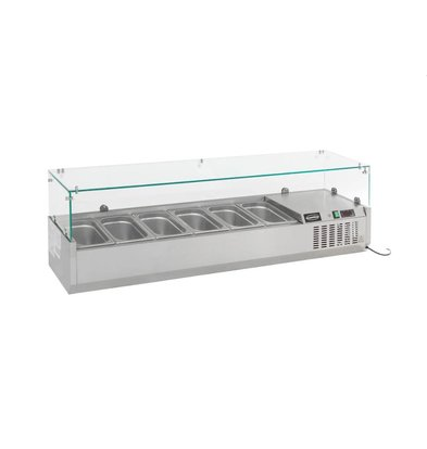 Ecofrost Set-up refrigerated display case - 5x 1/4 GN - 70x33,5x (H) 44.8 cm