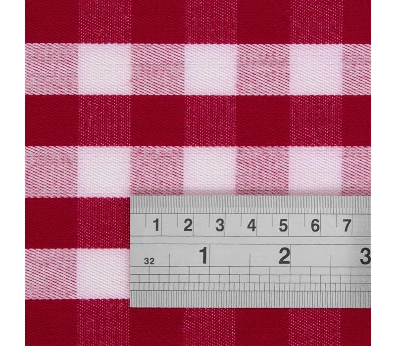 Mitre Comfort Bestekzakjes / Servetten  Gingham | Rood-Wit | 41x41cm | Per 10 Stuks