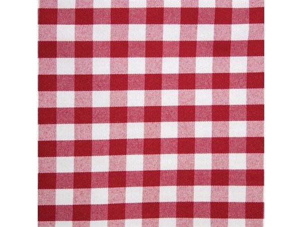 Mitre Comfort Besteckbeutel / Servietten Gingham   Rot-Weiß   41x41cm   Pro 10 Stück