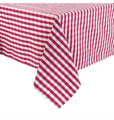 Mitre Comfort Tablecloth Gingham | Red-White | 100% polyester Available in 3 sizes