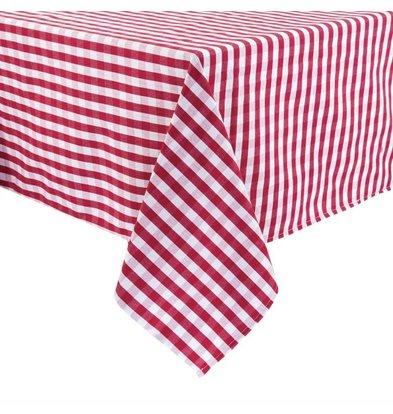 Mitre Comfort Tafelkleed Gingham | Rood-Wit | 100% polyester | Beschikbaar in 3 Maten