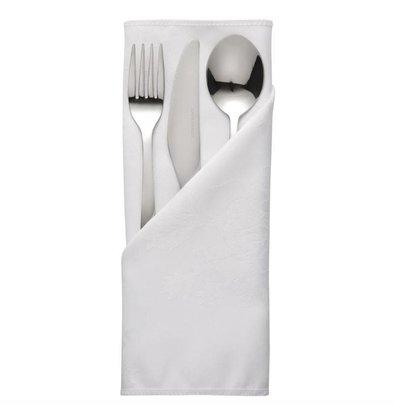 Mitre Luxury Bestekzakjes / Servetten  Traditions | Wit | 56x56cm | Per 10 Stuks