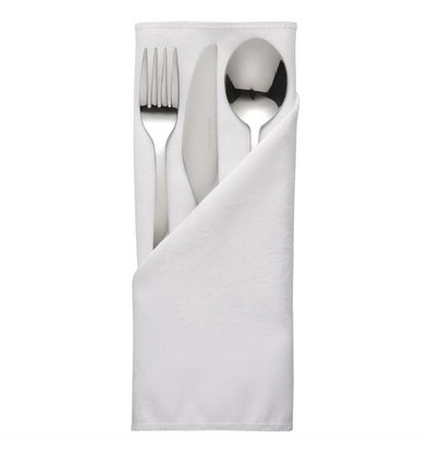 Mitre Luxury Cutlery pouches / Napkins Traditions | White 56x56cm | Per 10 pieces