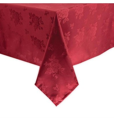 Mitre Luxury Tafelkleed Traditions   Bordeaux   100% polyester   Beschikbaar in 4 Maten