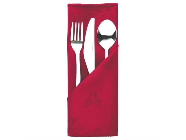 Mitre Luxury Besteckbeutel / Servietten Traditions | Bordeaux 56x516cm | Pro 10 Stück