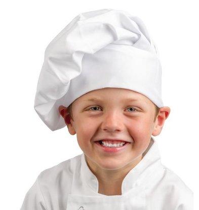 Whites Chefs Clothing Whites Koksmuts Kind - Universele maat - Wit - Unisex