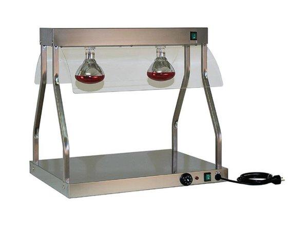 Diamond Trancheerplaat | 2 x 250W Lampe | 700 mm | 1,1 kW | 2 x 1 / 1GN