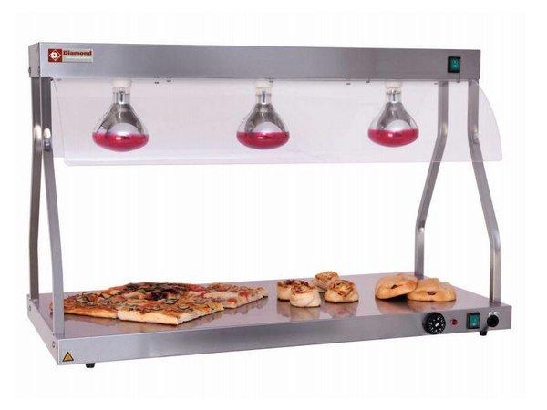 Diamond Infrarot-Wärmebrücke | 3 x 250W Lampe | 1030 mm | 1,5 kW | 3 x 1 / 1GN