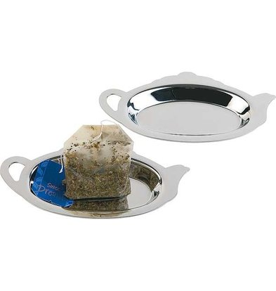 APS FSE Teabagholder | Polished Stainless Steel | 12.5x7x (h) 1cm | 2 pieces
